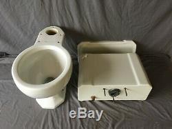 Vtg Milieu Du Siècle Art Déco Complet Toilettes Vieux Vtg Kohler Wellworth Blanc 109-19e