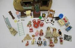 Vtg Vieille Femme A Vécu Dans La Chaussure Maison Boot Lighted Doll House &furniture Folk Art
