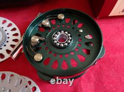 X-rare Old Shop Stock Boxed Hardy Bougle Agate 1 Trout Fly Reel (cadre Vert)